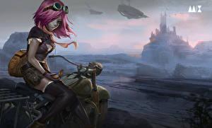 Картинка Очки Сидящие Фэнтези Девушки Мотоциклы