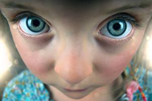 Обои Глаза Лицо Взгляд Девочки фото