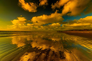 Обои Пейзаж Побережье Небо Облака Природа фото