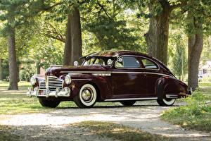 Обои Бьюик Винтаж Темно красный Металлик Седан 1941 Special Sedanet