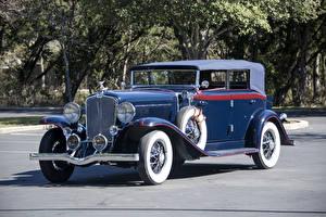 Картинка Ретро Синих Металлик Седан 1931 Auburn 8-98 Standard Phaeton Sedan Автомобили