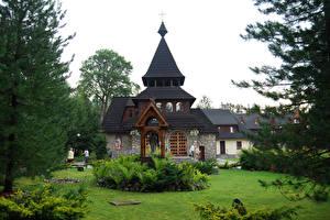 Обои Польша Храмы Газон Zakopane Города фото