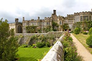Обои Англия Сады Дворец Haddon Hall and gardens Города фото