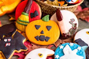 Обои Хеллоуин Выпечка Печенье Дизайн Еда фото