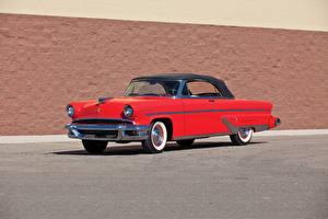 Обои Lincoln Ретро Красный 1955 Capri Special Custom Convertible Автомобили