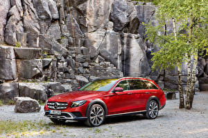 Фото Mercedes-Benz Тюнинг Красный Металлик 2016 E 350 d 4MATIC All-Terrain Worldwide Автомобили