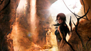 Фото Rise of the Tomb Raider Лара Крофт Девушки