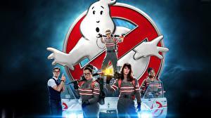 Картинки Логотип эмблема Мужчины Ghostbusters 2016 Девушки