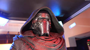 Фотографии Звездные войны Звёздные войны: Пробуждение Силы Маски Мужчины Воители Капюшон Kylo Ren Кино Фэнтези