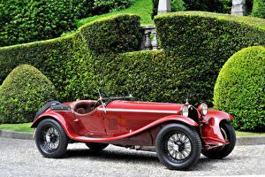 Фотография Alfa Romeo Старинные Красные Металлик 1931-34 8C 2300 Spider Corsa машины