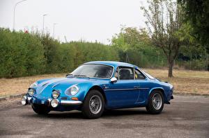 Обои Рено Ретро Голубой 1972-75 Alpine A110 1600S машины