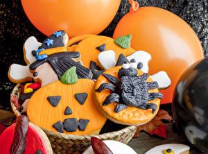 Обои Хеллоуин Печенье Дизайн Еда фото