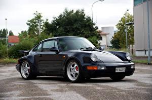 Картинка Porsche Черный Металлик 1992-93 911 Turbo 3.6 Coupe Машины