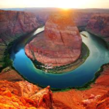Обои США Парки Реки Гранд-Каньон парк Каньоны Природа