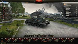 Фото World of Tanks Самоходка ISU-122C in the hangar Игры