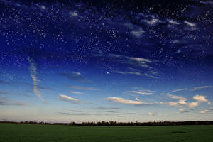 Фото Поля Небо Звезды Облако