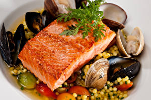Фото Морепродукты Рыба Еда
