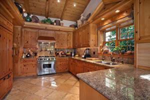 Обои Интерьер Дизайн Кухня Деревянный фото