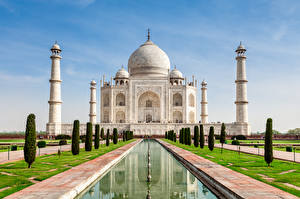 Картинки Тадж-Махал Индия Мечеть Agra India Uttar Pradesh