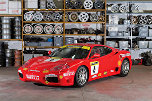 Обои Ferrari Тюнинг Красный Металлик 2003-04 360 Challenge Pininfarina Автомобили фото