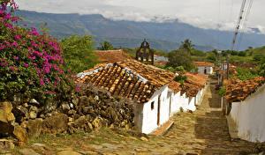 Картинки Дома Камень Колумбия Улиц Guane