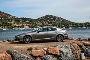 Фото Maserati Серый Сбоку 2016 Ghibli S Q4 Авто