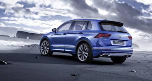 Картинка Volkswagen Синий GTE 2015 Tiguan Concept 2015 Авто