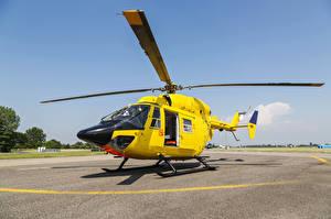Картинки Вертолеты Желтый Авиация