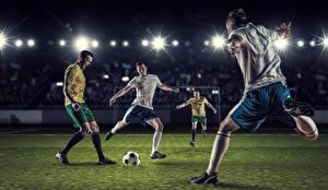 Фотография Футбол Мужчины Мяч Ноги Спорт