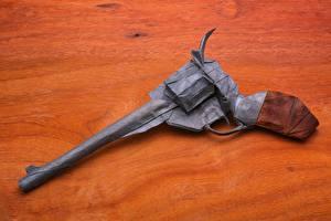 Картинки Пистолеты Револьвер Оригами Бумага