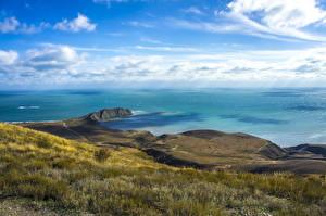 Фото Пейзаж Берег Море Небо Россия Крым Природа