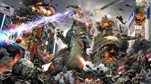 Обои Битвы Монстры Godzilla