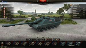 Обои World of Tanks САУ AMX 50 Foch (155) in the hangar компьютерная игра