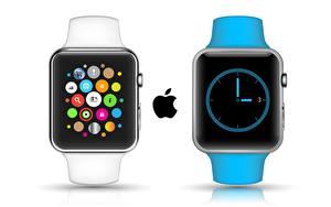 Картинка Apple Часы Наручные часы Белый фон Apple Watch