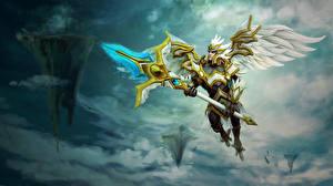 Обои DOTA 2 Skywrath Mage Воители Ангелы Игры Фэнтези фото