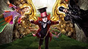 Обои Алиса в стране чудес Johnny Depp Шляпа Alice Through the Looking Glass 2016 Фильмы Знаменитости фото