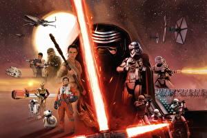 Обои Звёздные войны: Пробуждение Силы Воители Мечи Фильмы фото