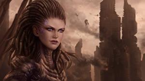 Фото StarCraft 2 Сверхъестественные существа Воин Сара Керриган