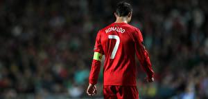 Картинка Футбол Красный Футболка Cristiano Ronaldo Спорт