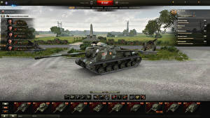 Картинка World of Tanks Самоходка ISU-122C in the hangar Игры