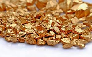 Картинки Золото Вблизи Камни Золотой gold metal mineral