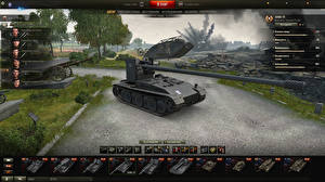 Картинка World of Tanks Самоходка Grille 15 in the hangar Игры