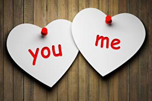 Картинка Любовь 2 Сердечко you me