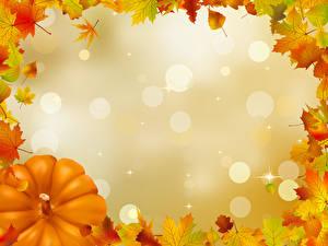 Картинка Осень Векторная графика Шаблон поздравительной открытки