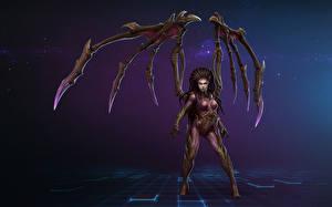 Картинка Heroes of the Storm StarCraft 2 Сверхъестественные существа Сара Керриган Игры Фэнтези