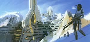 Обои Mass Effect Воители Noveria Hanshan Игры Девушки Фэнтези