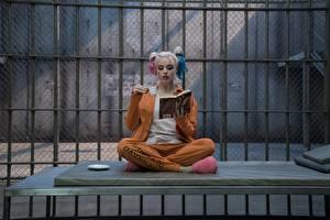 Обои Отряд самоубийц 2016 Харли Квинн герой Марго Робби Блондинка Сидит Тюрьма Фильмы Девушки Знаменитости фото
