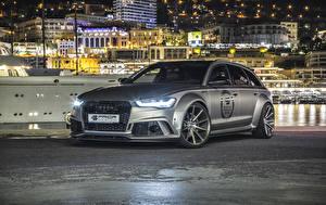 Фото Audi Тюнинг Серый Универсал 2016 Prior-Design Audi RS 6 Avant PD600R Widebody Aerodynamic-Kit автомобиль