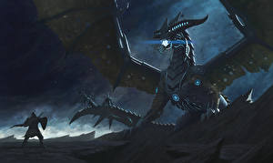 Фото Dragon Age Mass Effect Драконы Воины Крылья Dragon Reaper Фэнтези