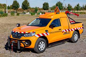Обои Рено Металлик Оранжевая 2016 Alaskan Road Safety Patrol by Durisotti машина